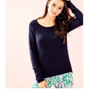 Lilly Pulitzer Navy Petrina Sweater